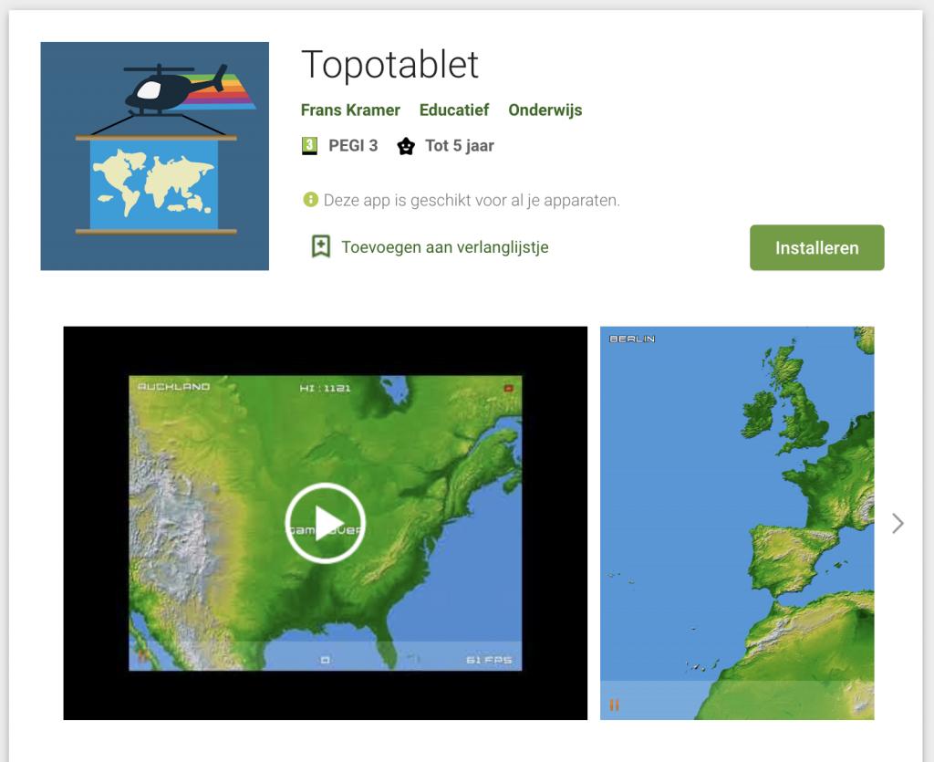 Topotablet Google Playstore